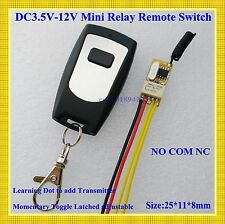 Micro Remote Control Switch DC3.7V 5V 6V 7.4V 9V 12V Relay Receiver COM NC NO RX