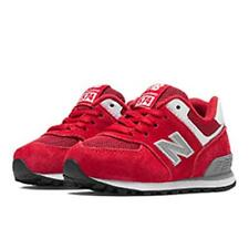 [KL5741VI] NEW BALANCE 574 BABY RED/SILVER TODDLER SIZE 5 TO 10 NIB