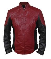 The Amazing Spiderman Jacket Black & Maroon with Padded / Embossed Spider Logo