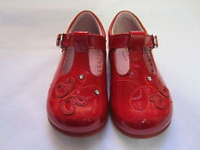 Girls Startrite T Bar Shoes In Red Patent Leather 'Pixie' F & G Width Fitting