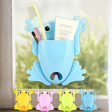 Cute Frog Toothbrush Toothpaste Holder Suction Cup Wall Mount Stuff Organizer