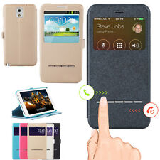 Flip PU Leather Case Cover Skin Window View for Samsung Galaxy s3/s4/s5/Note 3
