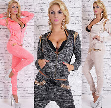 Sexy Women's 2-Piece Full Tracksuit Joggings With Hood Print Leisure Suit HOT