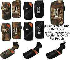 Cover Pouch TO fit UAG Case FOR ALL Large Smart Cell Phones With Metal Clip