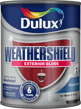 Dulux Weathershield Exterior Gloss 750ml  for Wood & Metal Paint Various Colours