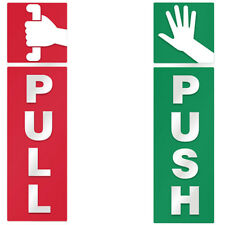 Push and Pull Door Windows Vinyl Decal Information Warning Note Sticker