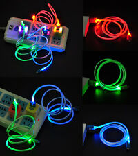 Fashion Micro USB Charge Data Sync Cable LED Visible Light For Android Samsung