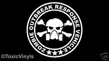 Zombie outbreak response vehicle car sticker funny zombie sticker