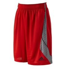 OFFICIAL ADIDAS BASKETBALL FASTBREAK WAVE RED ADULT MENS SHORTS BNWT NEW $35