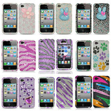 Colorful Bling Hard Snap On Cover Case for Apple iPhone 4 4G 4S w/Screen