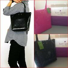 KATE SPADE JERALYN BLACK PINK FAUX PATENT LEATHER HANDBAG TOTE SHOPPING BAG SET