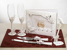 Butterfly themed collection wedding bridal accessories set