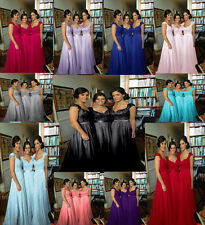 New Long Wedding Cocktail Dress Formal Prom party Evening stock plus size6 to 26