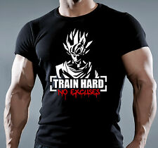 TRAINING MENS BODYBUILDING GYM MOTIVATION GOKU T-Shirt MMA WORKOUT CLOTHING TOP