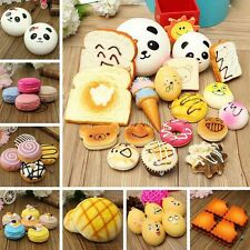 29-Style! Soft Cute Squishy Bread Kawaii Keychain Bag Phone Charm Strap Pendant
