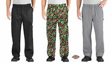 Dickies Chef DC201 Cargo Pocket Cotton Elastic Waist Chef Work Pants XS-5XL NWT