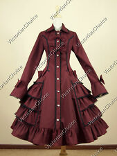 Victorian Gothic Lolita Dress Coat Theatre Clothing Steampunk Cosplay Punk C019