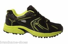 NEW MENS DUNLOP MENS KT TRACK RUNNERS RUNNING BLACK YELLOW CASUAL SNEAKERS SHOES