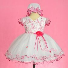 Sequins Embroidery Wedding Flower Girl Birthday Party Dress Up Size 9-24m FG324