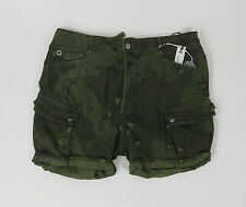G-Star LAUNDRY OFFICER SHORT WMN 91118.3686.724 - SAGE - camouflage +NEU+ Gr. 29