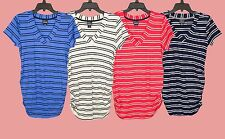 Oh Baby by Motherhood Striped Ruched Tee/Top - Maternity Sizes -BRAND NEW w/TAGS