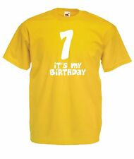 SEVENTH 7th BIRTHDAY funny party presentchristmas gift ideas boys girls T SHIRT