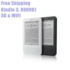 "Full Functional 6"" Amazon Kindle 3 Kindle Keyboard D00901 eBook Reader, 3G &Wifi"