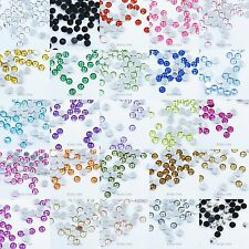 200 Round 5mm Flat Back Gems Acrylic Rhinestones For Scrapbooking Card Making