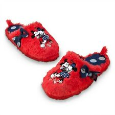 New Ladies Girls Disney Store Mickey and Minnie Mouse Slippers Size 3 4 5 6 7 8