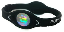 BLACK Power Balance Energy Health Original Bracelet Silicone Hologram code