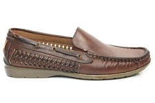 Mens Woven Slip On Casual Boat Deck Moccasin Loafers Shoes Size UK 6 7 8 9 10 11