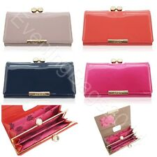Ladies LYDC Patent Leather Purses Classic Shiny Ball Claps Girls Clutch Wallet