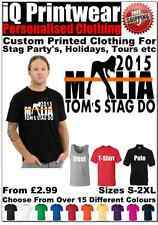 Malia Stag T Shirts Party Night Mens Printed Personalised Polo Vest Holiday