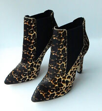 NWB! Orig $245! AVA & AIDEN 'Dayna' Pointed Toe Bootie in Leopard Print Haircalf