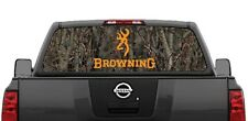 Browning Hunting Camouflage Rear Window Decal Graphic for Truck SUV Van
