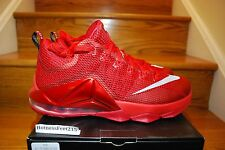 Nike LeBron 12 XII Low All Over Red QS Quickstrike University 724557-616 Sz:8-14