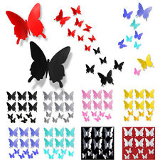 DIY Art Design Decal Home Decor 3D Stereoscopic Butterfly Wall Stickers 12pcs