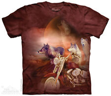 Motorcycle Wolfpack - Wolves T Shirt The Mountain