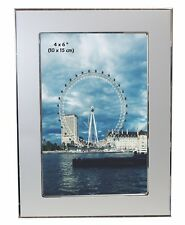 Brushed Satin Silver Colour & Shiny Aluminium Photo Picture Frame - ALL SIZES