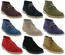 WOMENS 2EYE ROAMERS SUEDE LEATHER LACE CLASSIC ANKLE DESERT BOOTS SIZES UK 3-8