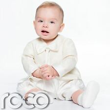 Baby Boys Cream Romper Suit, Boys Christening Outfit, Christening Suit