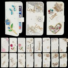 3D Diamond Bling Wallet Leather Flip Case Cover For iPhone 4s 5s 6 Plus Hot
