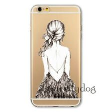 Transparent Printed Thin Soft TPU Cover Case For iPhone 4 4S 5 5S 6 6 Plus New