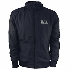 Mens EA7 Emporio Navy Slate Train Stand Alone Blouson Armani Jacket Coat Casual
