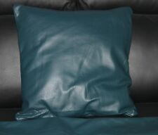 Genuine Real Italian Leather Cushion Covers in Dark Blue
