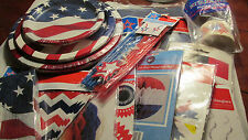American Flag Patriotic Party Supplies ~Red/White/Blue~Decorations/Serving~