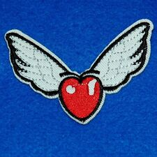 Heart Skull Bone Iron Sew on Patch Embroidered Applique Biker Badge Cute Baby