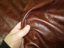 Genuine Real Italian Leather Cushion Covers in a Lovely Dark Brandy Brown