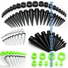 40x 2-16mm Mixed Acrylic Taper Stretcher Screw Tunnel Ear Expander Plug Kit Set