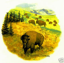 A03 ~ Buffalo Herd Ceramic Decals, Bison, Plains Scene 4 sizes to choose from,